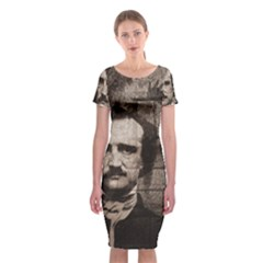 Edgar Allan Poe  Classic Short Sleeve Midi Dress by Valentinaart