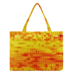 Bright Background Orange Yellow Medium Tote Bag