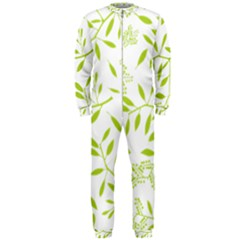 Leaves Pattern Seamless Onepiece Jumpsuit (men)