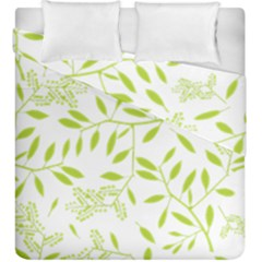 Leaves Pattern Seamless Duvet Cover Double Side (king Size) by Simbadda