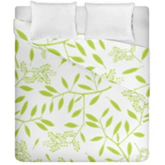 Leaves Pattern Seamless Duvet Cover Double Side (california King Size)