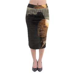 Alfred Hitchcock   Psycho  Midi Pencil Skirt by Valentinaart
