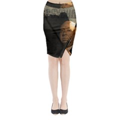 Alfred Hitchcock   Psycho  Midi Wrap Pencil Skirt by Valentinaart
