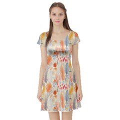 Repeating Pattern How To Short Sleeve Skater Dress by Simbadda
