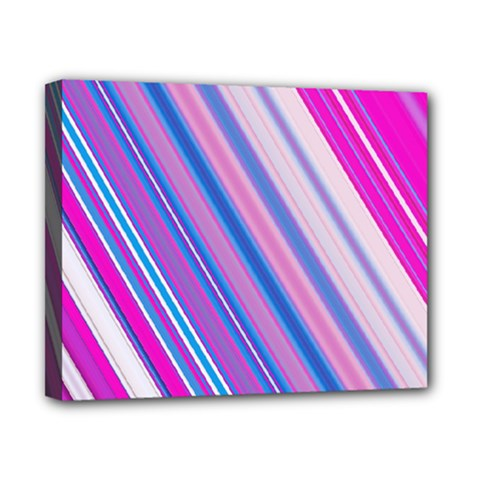 Line Obliquely Pink Canvas 10  X 8  by Simbadda