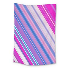 Line Obliquely Pink Large Tapestry