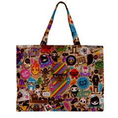 Background Images Colorful Bright Zipper Mini Tote Bag by Simbadda