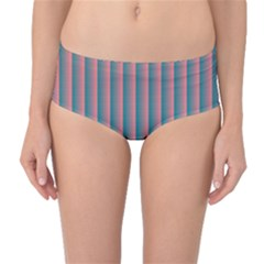 Hald Simulate Tritanope Color Vision With Color Lookup Tables Mid-waist Bikini Bottoms by Simbadda