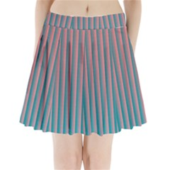 Hald Simulate Tritanope Color Vision With Color Lookup Tables Pleated Mini Skirt by Simbadda