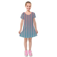 Hald Simulate Tritanope Color Vision With Color Lookup Tables Kids  Short Sleeve Velvet Dress by Simbadda
