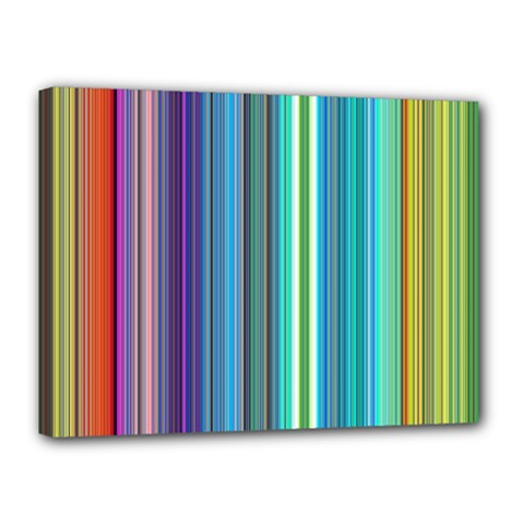 Color Stripes Canvas 16  X 12  by Simbadda