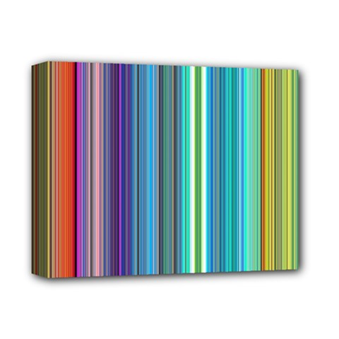Color Stripes Deluxe Canvas 14  X 11
