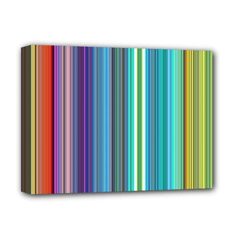 Color Stripes Deluxe Canvas 16  X 12