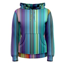 Color Stripes Women s Pullover Hoodie by Simbadda