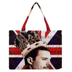 Freddie Mercury Medium Zipper Tote Bag by Valentinaart