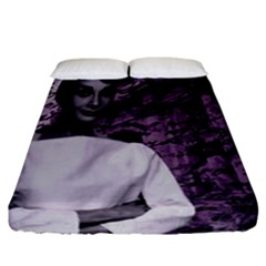 Audrey Hepburn Fitted Sheet (california King Size) by Valentinaart