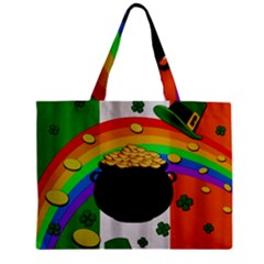 Pot Of Gold Zipper Mini Tote Bag by Valentinaart