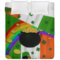 Pot Of Gold Duvet Cover Double Side (california King Size) by Valentinaart