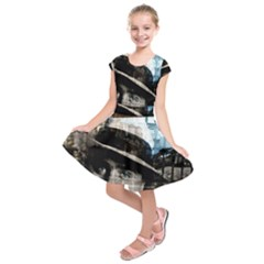 Al Capone  Kids  Short Sleeve Dress by Valentinaart
