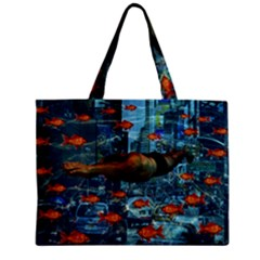 Urban Swimmers   Zipper Mini Tote Bag by Valentinaart