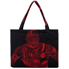 Warrior   Red Mini Tote Bag by Valentinaart