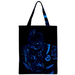 Warrior   Blue Zipper Classic Tote Bag by Valentinaart