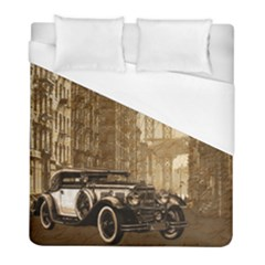 Vintage Old Car Duvet Cover (full/ Double Size) by Valentinaart