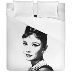 Audrey Hepburn Duvet Cover Double Side (california King Size) by Valentinaart