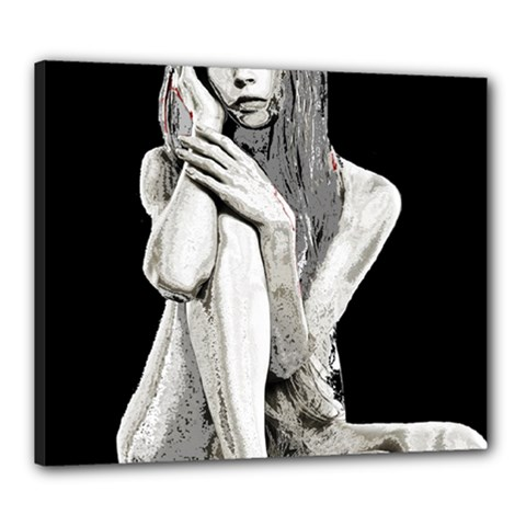 Stone Girl Canvas 24  X 20  by Valentinaart