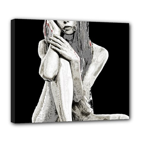 Stone Girl Deluxe Canvas 24  X 20   by Valentinaart