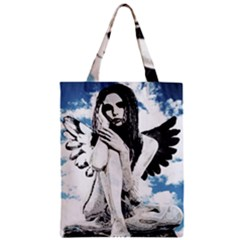 Angel Zipper Classic Tote Bag by Valentinaart
