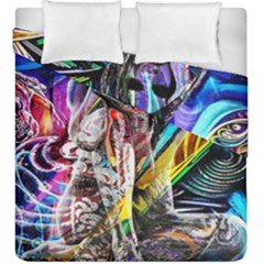 Graffiti Girl Duvet Cover Double Side (king Size) by Valentinaart