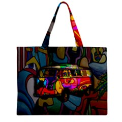 Hippie Van  Zipper Mini Tote Bag by Valentinaart