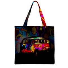 Hippie Van  Grocery Tote Bag by Valentinaart