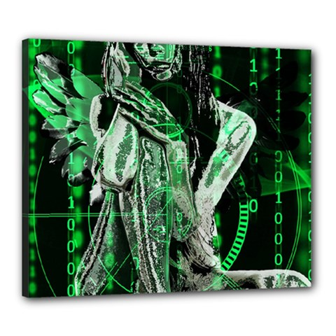 Cyber Angel Canvas 24  X 20  by Valentinaart
