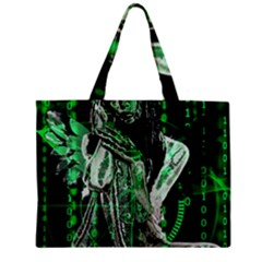 Cyber Angel Zipper Mini Tote Bag by Valentinaart