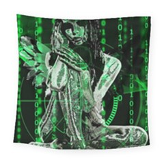 Cyber Angel Square Tapestry (large)