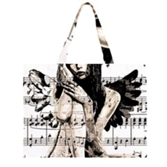 Vintage Angel Zipper Large Tote Bag by Valentinaart
