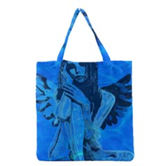 Underwater Angel Grocery Tote Bag by Valentinaart
