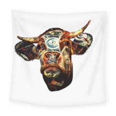 Artistic Cow Square Tapestry (large) by Valentinaart