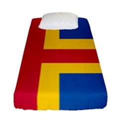 Flag Of Aland Fitted Sheet (single Size) by abbeyz71