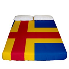 Flag Of Aland Fitted Sheet (california King Size) by abbeyz71