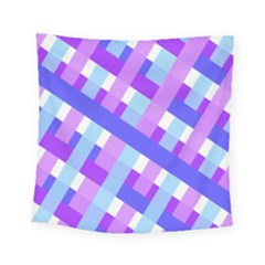 Geometric Plaid Gingham Diagonal Square Tapestry (small)