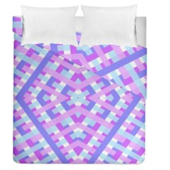 Geometric Gingham Merged Retro Pattern Duvet Cover Double Side (queen Size)