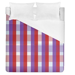 Gingham Pattern Checkered Violet Duvet Cover (queen Size)
