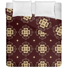 Seamless Ornament Symmetry Lines Duvet Cover Double Side (california King Size)