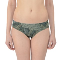 Vintage Background Green Leaves Hipster Bikini Bottoms by Simbadda