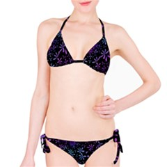 Retro Flower Pattern Design Batik Bikini Set by Simbadda