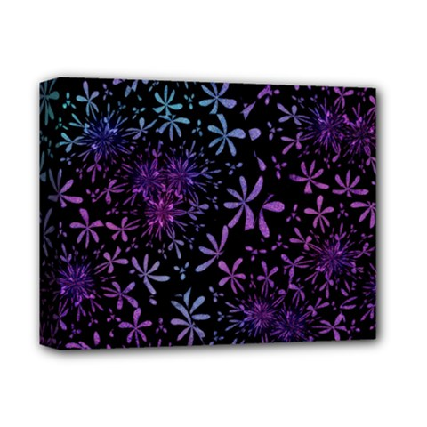 Retro Flower Pattern Design Batik Deluxe Canvas 14  X 11  by Simbadda
