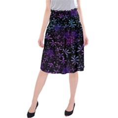 Retro Flower Pattern Design Batik Midi Beach Skirt